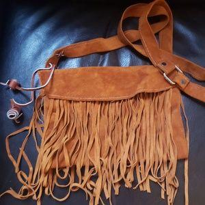 Handbags - Leather fringe bag